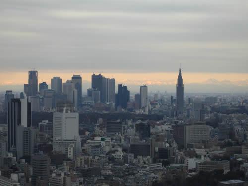 恵比寿ガーデンプレイスからの眺め